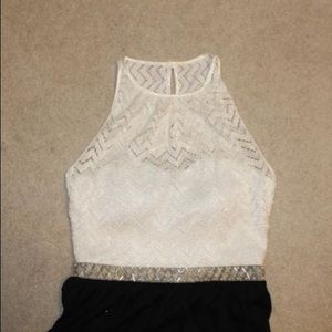 Dresses & Skirts - White and Black Formal Dress